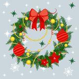 Christmas wreath. In delicate colors Stock Images
