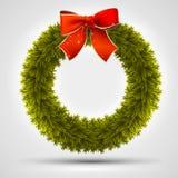 Christmas wreath design Royalty Free Stock Photos