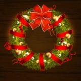 Christmas wreath design Stock Photo