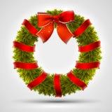 Christmas wreath design Stock Photos