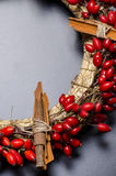 Christmas wreath detail Stock Images