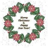 Christmas wreath in doodle style Stock Photo