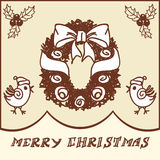 Christmas wreath doodles Stock Images