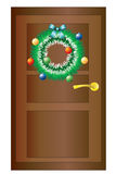 Christmas wreath on the door. Stock Image
