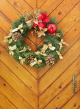 Christmas wreath on a door Stock Image