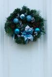 Christmas wreath. On a door Royalty Free Stock Photos