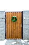 Christmas wreath. On a door Stock Photography