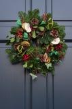 Christmas Wreath - Door Christmas wreath Royalty Free Stock Images