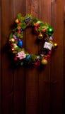 Christmas wreath on door Stock Image