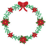 Christmas wreath elements Royalty Free Stock Images