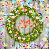 Christmas wreath. EPS 10 Royalty Free Stock Photo