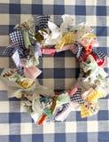 Christmas wreath of  fabric Royalty Free Stock Image