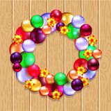 Christmas wreath with fir and holly Stock Images