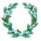 The Christmas wreath of fir twigs Royalty Free Stock Photos