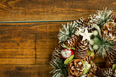 Christmas wreath formed by natural elements Stock Images