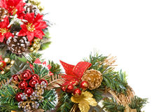Christmas wreath frame Royalty Free Stock Photo