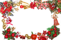 Christmas wreath frame Royalty Free Stock Image