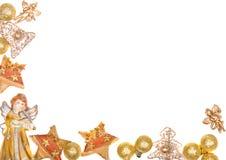 Christmas wreath frame. Beautiful shiny decorative christmas wreath frame Royalty Free Stock Photo