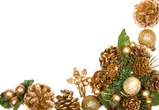 Christmas wreath frame Royalty Free Stock Images