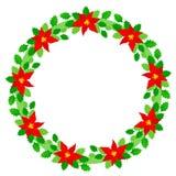 Christmas wreath frame royalty free stock photos