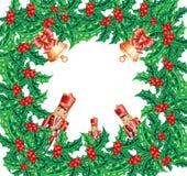 Christmas wreath frame Stock Image