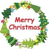 Christmas Wreath Frame 3 Stock Image