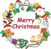 Christmas Wreath Frame 4 Royalty Free Stock Image