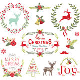 Christmas Wreath Frame Collection Royalty Free Stock Image