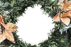 Christmas wreath frame Stock Images