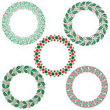 Christmas wreath frames Royalty Free Stock Image