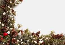Christmas Wreath Garland With Copy Space Royalty Free Stock Photography