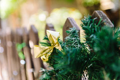Christmas wreath on gate Stock Photography
