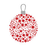 Christmas wreath of glass with star decorations. Illustration vector illustration