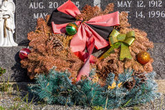 Neglected Grave Marker at  Cemetery. Royalty Free Stock Image