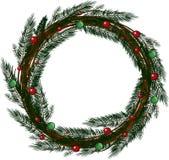 Christmas wreath Stock Photography