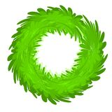 Christmas Wreath Green Blank Stock Photos