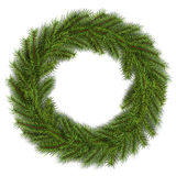 Christmas wreath green fir tree Stock Photos