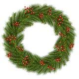 Christmas wreath green fir tree. Vector 3D christmas background Royalty Free Stock Photography