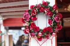 Christmas wreath handle Stock Images