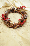 Christmas wreath handmade Stock Photo