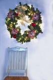 Christmas Wreath Hanging Stock Photography