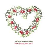 Christmas wreath heart Stock Photography
