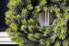 Christmas wreath. At a historic door Royalty Free Stock Image