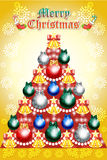 Christmas wreath with holly springs on snowflake background - vector eps10 Royalty Free Stock Images