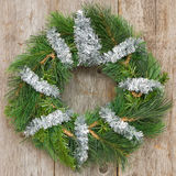 Christmas wreath hung on the wall Royalty Free Stock Photography
