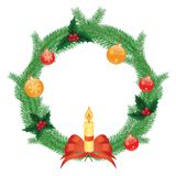 Christmas wreath,  illustration Stock Photos