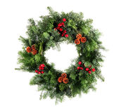 Christmas Wreath Isolated Stock Photos