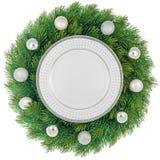 Christmas wreath isolated Stock Photography