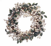 Christmas Wreath. Isolated on white Stock Photography