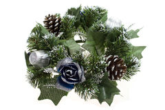 Christmas wreath isolated on white Royalty Free Stock Photos